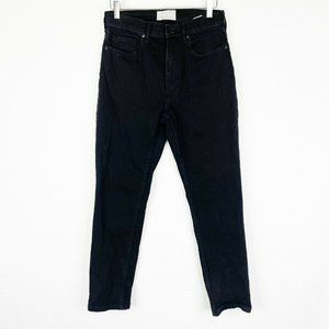 EVERLANE Black High Waist Straight Jeans Size 27